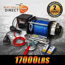 12V 17000LBS/7711KGS Wireless Synthetic Rope Cable Electric Winch 4WD BOAT TRUCK