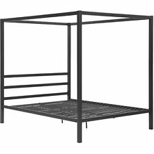 Dhp Modern Metal Framed Canopy Bed Frame Queen Grey