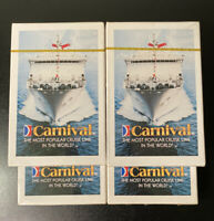 LOT Of 4 Vintage Carnival Cruise Playing Cards Four DECKS SEALED NEW Unopened