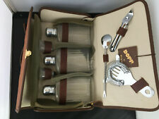 Vintage Dopp by Buxton Travel Bar Set With Leather Case