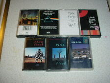 PINK FLOYD 7 CASSETTE TAPE LOT ANIMALS THE WALL DARK SIDE OF THE MOON FINAL CUT