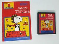 SNOOPY AND THE RED BARON (Atari 2600) Cartridge with Manual