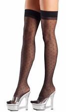 Sheer Polka Dot Thigh Highs Stockings Costume Hosiery BW701