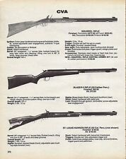 1988 CVA Connecticut Valley Arms Squirrel Blazer Hawken RIFLE AD