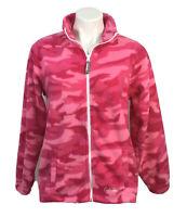 Cabela's Fleece Jacket Girls Size L Pink Atomic Urban Camo Full Zip MSRP $39.99