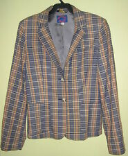 Plaid Lined Blazer suit jacket vintage retro Upscale Office REGATTA SPORT  6