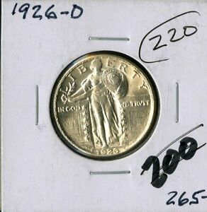 US Coin 1926 D Standing Liberty Silver Quarter HIGH GRADE NO RESERVE!