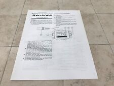 Kenwood SW-2000  Owners Manual / Schematics