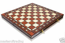"Top Quality 16"" Wooden Folding CHESSBOARD / Chess Board - Hand Crafted 40 x 40cm"