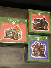 Santas Workbench Victorian Flameworks Glass Shoppe 2000  Christmas Village