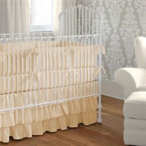 Baby bedding Unisex Crib skirt 3 tier Skirt Choose Color & Size