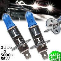 2x BOMBILLAS LAMPARA HALOGENAS H1 LUZ BLANCA 55 W 12 V TIPO XENON HID 5000K