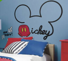 Disney All About MICKEY MOUSE wall stickers MURAL 10 decals Clubhouse decor