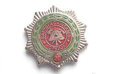 SFRJ YUGOSLAVIA -FIRE DEPARTMENT ASSOCIATION OF SERBIA FOR LONG SERVICE 20 YEARS