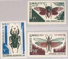 MALI 1967 151-53 99-01 Insekten Insects Goliathkäfer Feldheuschrecke Fauna MNH