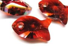 1pc Swarovski ® 18mm rouge magma poisson pendentif 6727