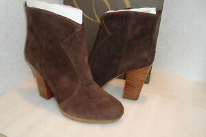 Enzo Angiolini Womens Alessi Dark Brown Leather Boots Shoes 10 MED DISPLAY