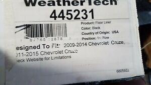WeatherTech 445231 Floor - Floor Mat BLACK 1st ROW Chevrolet Cruze