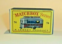 Matchbox Lesney No 74  MOBILE CANTEEN Empty Box style D