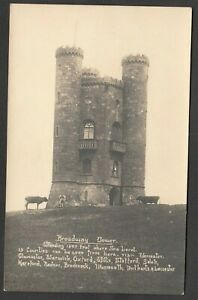 Postcard Broadway Tower in Cotswolds Worcestershire early RP by Frank Packer