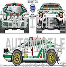 Neuf Affiche / Poster Lancia Stratos  Rallye de Monte-Carlo 1977