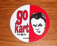 "Go Kart Records Logo Sticker Circle Promo RARE 3.5"""