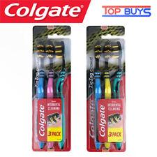 Colgate Zig Zag Charcoal Toothbrush Interdental Cleaning Medium Bristles 3 Pack