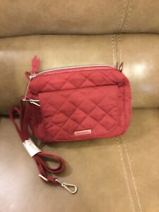 "VERA BRADLEY ""BERRY RED"" CARSON MINI SHOULDER BAG (NWT)"