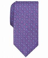 Perry Ellis Men's Purple Blue Neck Tie Silk Kilton Neat Geometric $55 543