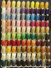 100 Large Spools Polyester Embroidery Machine Thread - 1100 yards each spool
