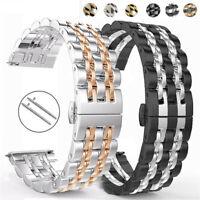 Für Samsung Galaxy Watch3 41/45mm Active2 Uhrenarmband Edelstahl Strap Bracelet