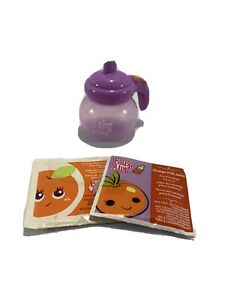 Baby Alive Doll Bottle Sippy Cup Magnetic Purple With 2 Juice Packets