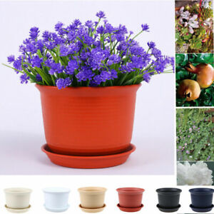 Resin Plant Flower Pot Planter Imitation Ceramic Flowerpot Garden Home Decor