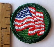 Retired Girl Scout 2002 Junior UNITED WE STAND BADGE American USA Flag Patch NEW