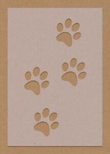 Paw Prints Dog Puppy Stencil Crafting Decor A6 A5 A4 A3