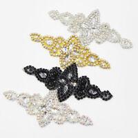 4 Types Crystal Rhinestone Applique Sewing Wedding Bridal Belt Sash Crafts Dress