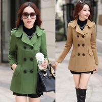 Women Korean Coat Jacket Double Breasted Fashion Slim Fit Outwears Blazer Casual