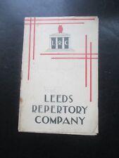 1935 LEEDS REPERTORY COMPANY THE BRONTES OF HAWORTH PARSONAGE PROGRAMME