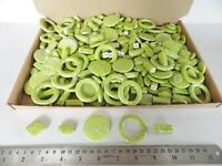 JOB LOT: One kilo (1 kg)  of Green/Silver Acrylic Beads - many shapes/sizes