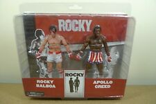 NECA ROCKY BALBOA & APOLLO CREED POST FIGHT BLODDIED 2 PACK Action Figures BN