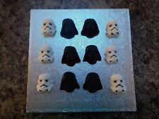 Star Wars Style Sugar Cupcake Toppers Darth Vader and Stormtroopers set of 12