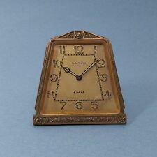 Vintage Waltham Art Nouveau Deco Arts & Crafts Bronze 8 Day Small Clock Germany