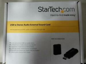 NEW Startech ICUSBAUDIOB USB Stereo Audio Adapter External Sound Card