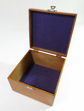 Antique Solid Maple Collar Storage Box with Original Hardware — Refinished