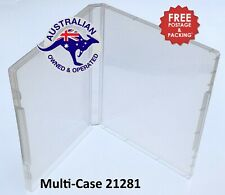 Super Clear Plastic DVD Stamp Storage Poly Case Free Post