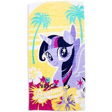 Twilight Sparkle My Little Pony Crush Bain Plage Grand Serviette Coton Enfants