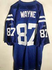 Reebok Authentic NFL Jersey Indianapolis Colts Reggie Wayne Blue sz 58