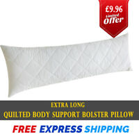 Non-Allergenic Bolster Pillow Quilted Long Body Support Orthopedic Pregnancy