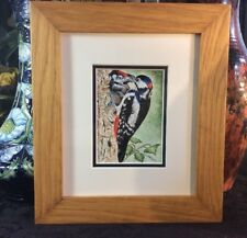 Elliot Hall Enamels Great Spotted Woodpecker Limited Edition 6/20 E.C. Watson