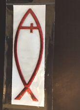 3D Jesus Christian Fish Chrome Car Emblem Religious Decal Sticker